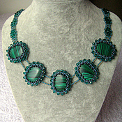 Украшения handmade. Livemaster - original item Necklace with malachite. Handmade.