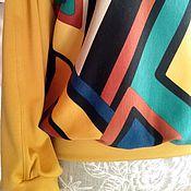 Одежда ручной работы. Ярмарка Мастеров - ручная работа Свитшот кофта Италия комбинирован. Handmade.