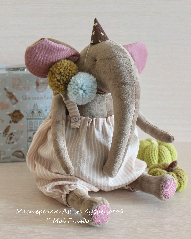 Зефирный бархатный слоник - Артист цирка, Мягкие игрушки, Казань,  Фото №1