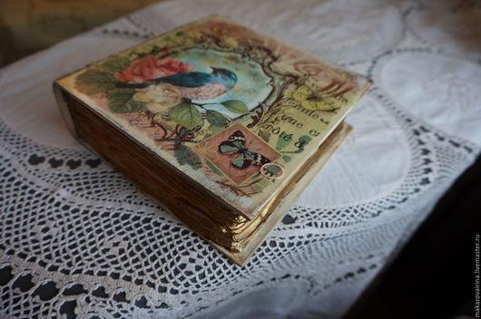 """Шкатулки ручной работы. Ярмарка Мастеров - ручная работа. Купить Шкатулка """"Райская птичка"""". Handmade. Комбинированный, шкатулка для мелочей, салфетка"""
