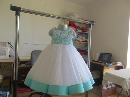 Одежда для девочек, ручной работы. Ярмарка Мастеров - ручная работа. Купить Нарядное пышное платье для девочки на годик. Handmade. Белый