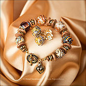 Украшения ручной работы. Ярмарка Мастеров - ручная работа «Divine: Champagne» :: браслет. Handmade.