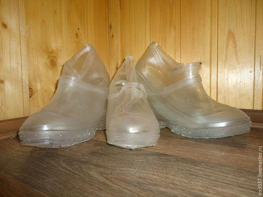 Обувь ручной работы. Ярмарка Мастеров - ручная работа. Купить Галоши на валенки прозрачные детские. Handmade. Разноцветный, прозрачный, на валенки