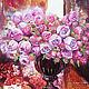Картины цветов ручной работы. Ярмарка Мастеров - ручная работа. Купить Parfum de roses-картина маслом розы, в интерьер, в подарок. Handmade.