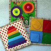 Куклы и игрушки ручной работы. Ярмарка Мастеров - ручная работа Карточки развивающие двухсторонние. Handmade.