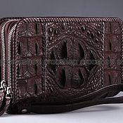 Сумки и аксессуары handmade. Livemaster - original item Clutch bag in crocodile leather with two zippers IMA0692K1. Handmade.