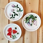 Посуда ручной работы. Ярмарка Мастеров - ручная работа Керамические тарелочки. Handmade.