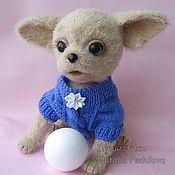 Куклы и игрушки handmade. Livemaster - original item Dog Chihuahua Adel toy knitted. Handmade.