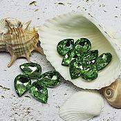 Материалы для творчества handmade. Livemaster - original item Rhinestones drops 14/10 mm Peridot. Handmade.
