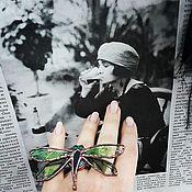 Украшения ручной работы. Ярмарка Мастеров - ручная работа Комплект украшений Стрекозы стекло металл. Handmade.
