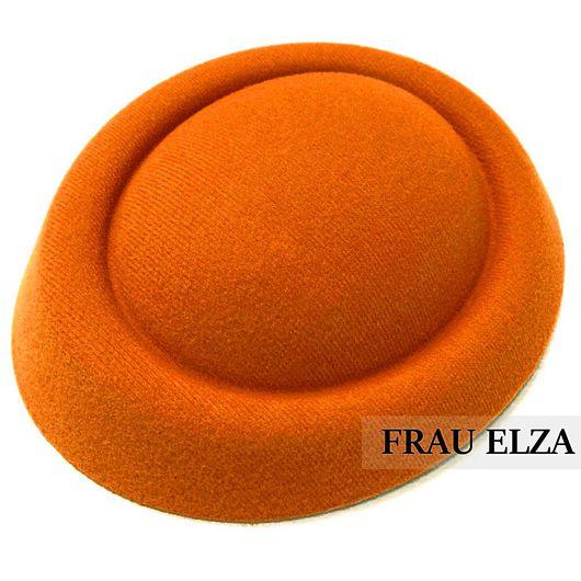 Шитье ручной работы. Ярмарка Мастеров - ручная работа. Купить Основа для шляпки из фетра Оранж. Handmade. Основа для шляпки