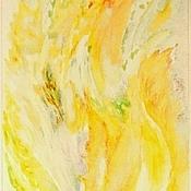 Картины и панно ручной работы. Ярмарка Мастеров - ручная работа Золотой дождь-роспись в кухне. Handmade.