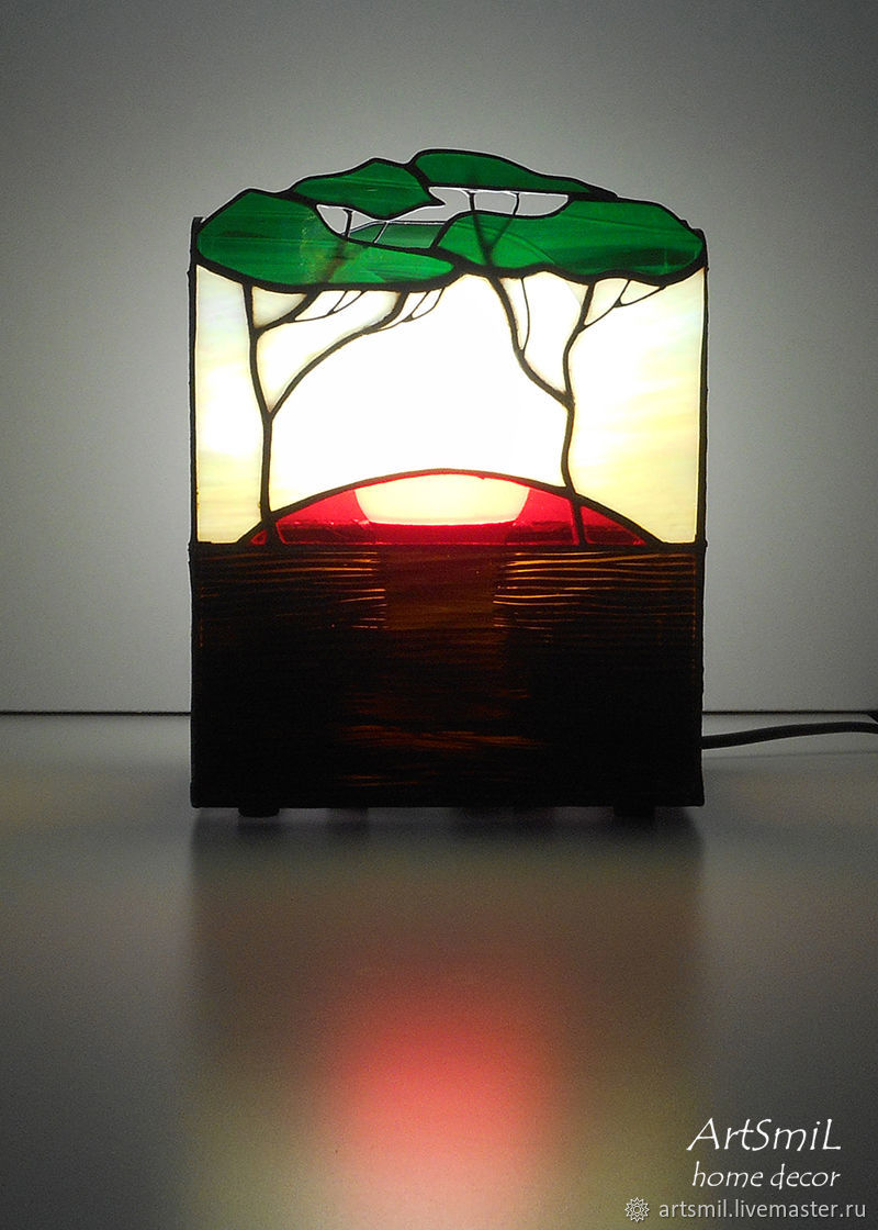 The Savannah lamp Stained glass lamp handmade, Table lamps, Moscow,  Фото №1