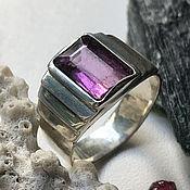 Украшения handmade. Livemaster - original item Silver ring with purple Tourmaline 3,43 ct Rubellite handmade. Handmade.