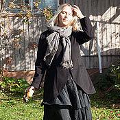Одежда ручной работы. Ярмарка Мастеров - ручная работа Юбка-бохо черная art.115c. Handmade.