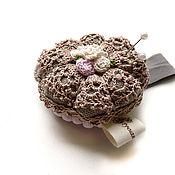 Материалы для творчества handmade. Livemaster - original item Needlebox shabby on the hand with an elastic band. Color beige. Handmade.