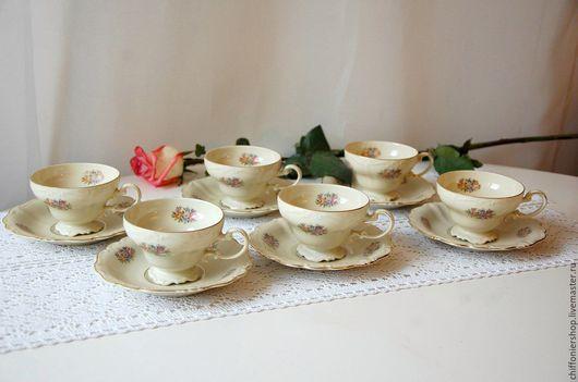 Винтажная посуда. Ярмарка Мастеров - ручная работа. Купить Чайные пары мануфактуры Rosenthal серии мадам Pompadour. Handmade. Бежевый