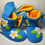 Обувь ручной работы handmade. Livemaster - original item Slippers Zaikin meadow. Handmade.