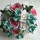 Свадебные цветы ручной работы. Ярмарка Мастеров - ручная работа. Купить Свадебный букет с мятными цветами. Handmade. Мятный