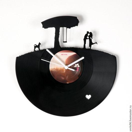 """Часы для дома ручной работы. Ярмарка Мастеров - ручная работа. Купить Часы из пластинки """"Дерево любви"""". Handmade. Дерево любви"""
