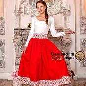 Одежда handmade. Livemaster - original item Skirt in Russian style