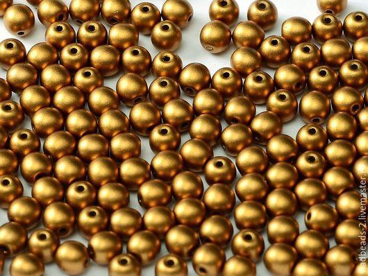 Для украшений ручной работы. Ярмарка Мастеров - ручная работа. Купить Бусины 2мм чешские стеклянные Metallic Brass. Handmade.