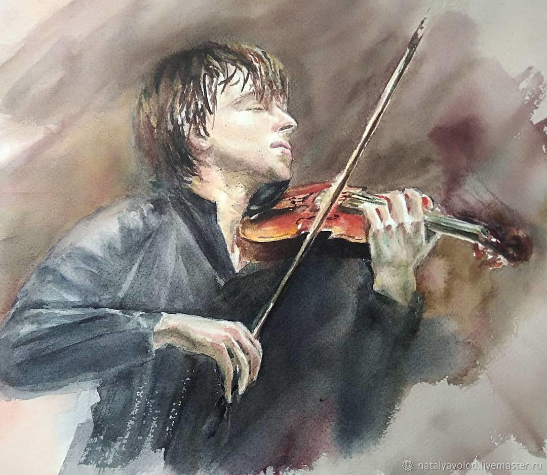 Рисунок мальчик со скрипкой
