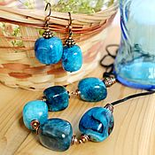 Агатовый голубой комплект