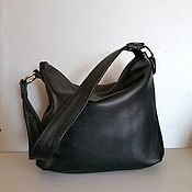 Сумки и аксессуары handmade. Livemaster - original item Bag leather women`s hobo Bag Black. Handmade.