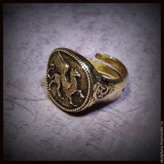 """Кольца ручной работы. Ярмарка Мастеров - ручная работа. Купить Кольцо """"Царь Скифии"""" бронза литье художественное. Handmade. Кольцо"""