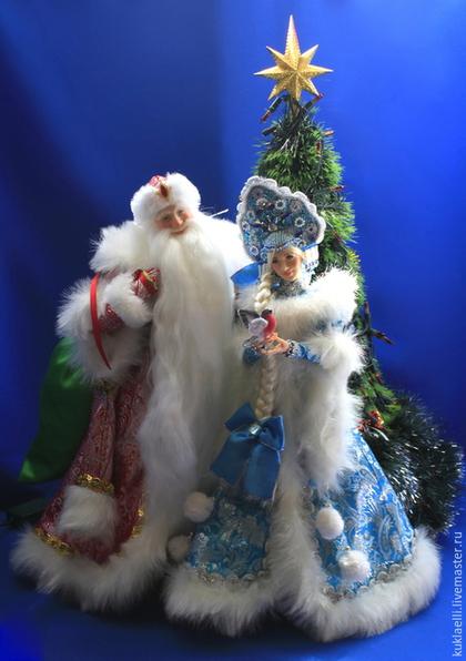 Коллекционные куклы ручной работы. Ярмарка Мастеров - ручная работа. Купить Дед Мороз и Снегурочка. Handmade. Дед мороз