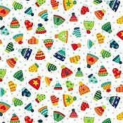 Материалы для творчества ручной работы. Ярмарка Мастеров - ручная работа Ткань Novelty Christmas Hats and Mittens Makower UK. Handmade.