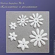 Материалы для творчества handmade. Livemaster - original item Set cutting number 4 Clematis and chamomile. Handmade.