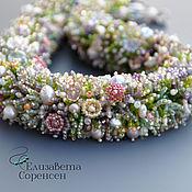 Украшения handmade. Livemaster - original item Harness of beads First flowers. Handmade.