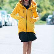 Одежда handmade. Livemaster - original item Women`s sweatshirt. sweatshirt. Yellow sweatshirt. Hoodie.. Handmade.