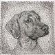 Животные ручной работы. Ярмарка Мастеров - ручная работа. Купить портрет собаки в стиле стринг арт. Handmade. Картина в подарок