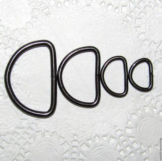 Другие виды рукоделия ручной работы. Ярмарка Мастеров - ручная работа. Купить Полукольца,чёрный металл,4 размера. Handmade.