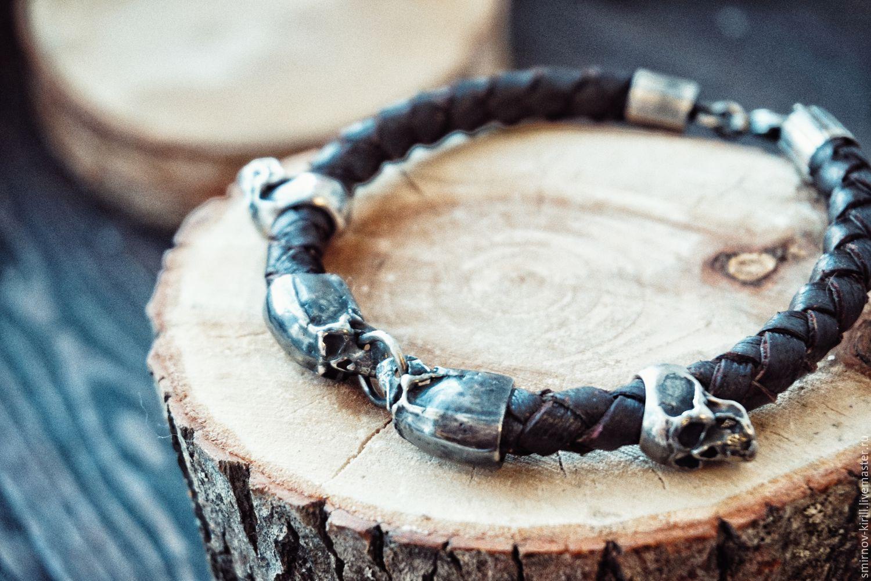 Браслеты ручной работы из серебра мужские
