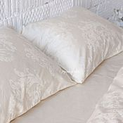 Для дома и интерьера handmade. Livemaster - original item Ivory bedding. Ivory linen duvet cover set. Cotton satin bedding. Handmade.