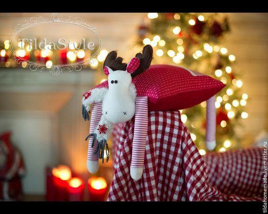 Игрушки животные, ручной работы. Ярмарка Мастеров - ручная работа. Купить Интерьерная подушка Лось. Handmade. Новый год подарок