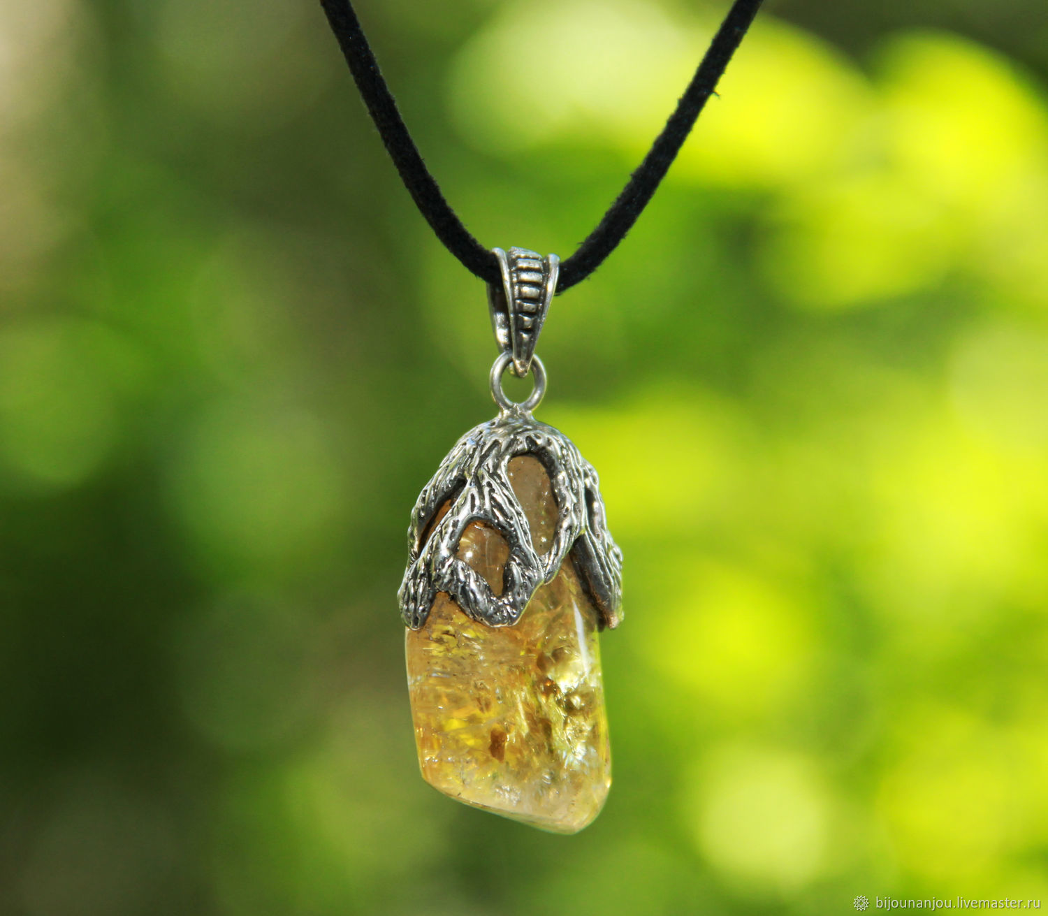Pendant with natural citrine made of 925 sterling silver RS0062, Pendants, Yerevan,  Фото №1