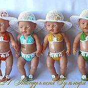 Куклы и игрушки ручной работы. Ярмарка Мастеров - ручная работа кукольный купальник. Handmade.