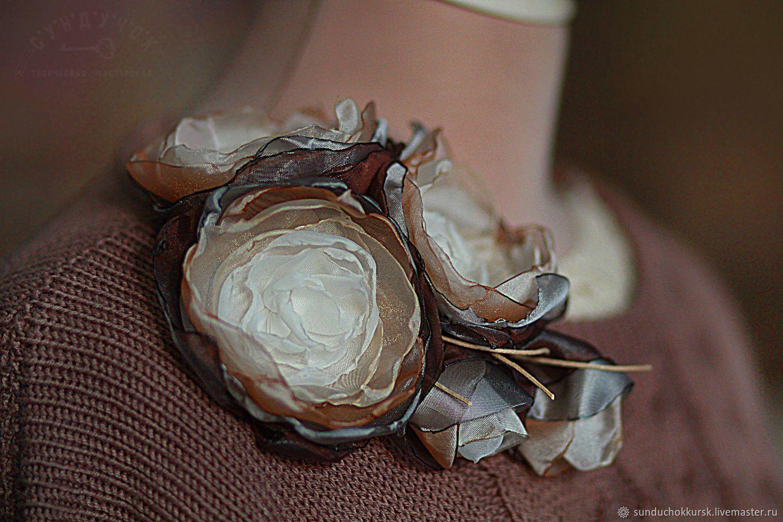 """Брошь-цветы """"Мелодия сладкого апреля"""", Брошь-булавка, Курск,  Фото №1"""