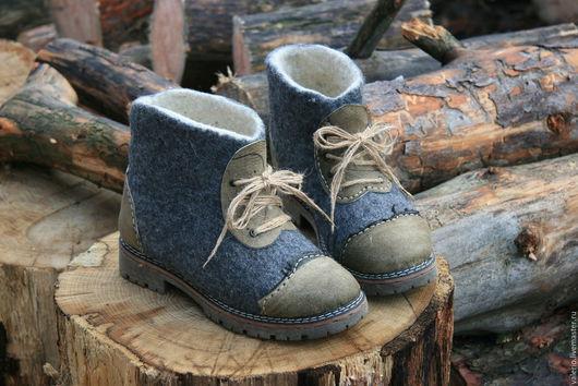 Обувь ручной работы. Ярмарка Мастеров - ручная работа. Купить Серые. Handmade. Серый, сапоги, мода 2015, кожа натуральная