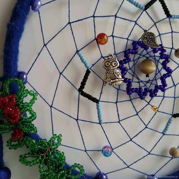 Feng Shui handmade. Livemaster - original item Dreamcatcher Blue Fantasy. Handmade.