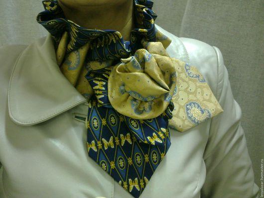Воротнички ручной работы. Ярмарка Мастеров - ручная работа. Купить Шарф украшение из винтажных галстуков. Handmade. Комбинированный, воротник, винтаж
