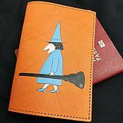 Сувениры и подарки handmade. Livemaster - original item WITCH, passport cover. Handmade.