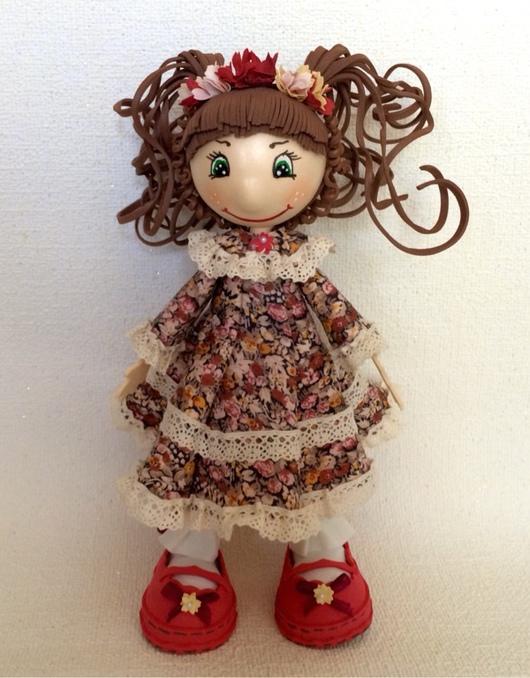 Человечки ручной работы. Ярмарка Мастеров - ручная работа. Купить Кукла Арина. Handmade. Фоамиран, кукла из фоамирана, кружевная тесьма