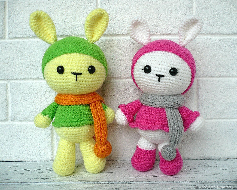 Amigurumi knitted bunnies, Stuffed Toys, Nizhnij Tagil,  Фото №1