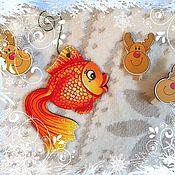 Для дома и интерьера ручной работы. Ярмарка Мастеров - ручная работа елочные украшения. Handmade.